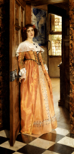 At The Doorway, 1898 by Lady Laura Alma-Tadema