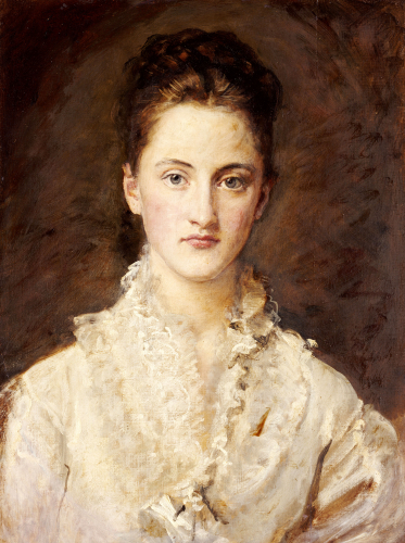 Portrait Of The Artist's Daughter, Mary, Circa 1875 by Sir John Everett Millais