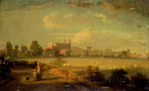 A View Of Eton From The Playing Fields, 1822 by Edmund Bristow