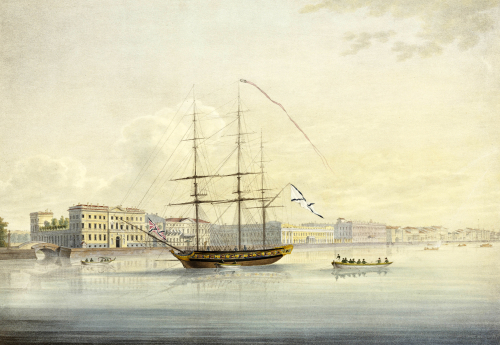 Quai De La Cour. Views Of St. Petersburg And Environs, 1821 by Christie's Images