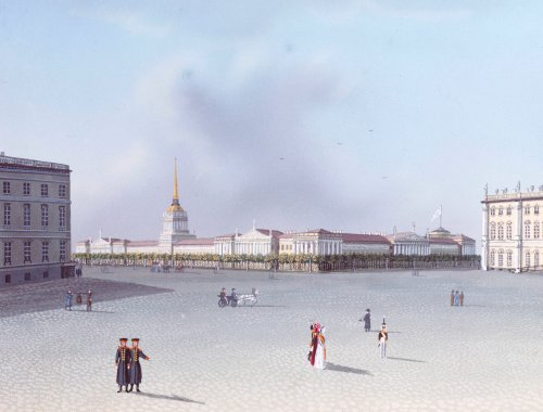 The Admiralty From The Winter Palace, Views Of St. Petersburg And Its Environs by Russian School