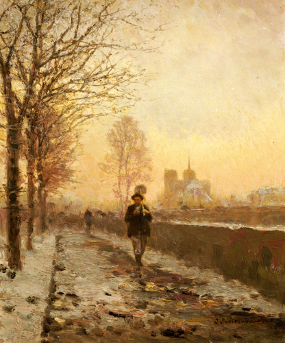Quai De Tournelle, Paris, C.1909 by Ivan Pavlovich Pokhitonov