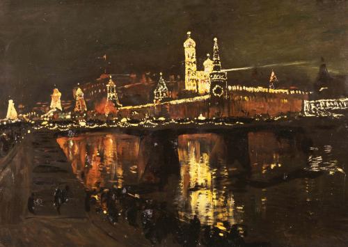 The Illumination Of The Kremlin, 1896 by Isaac Ilich Levitan