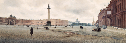 The Hermitage Palace And Palace Square. Views Of St. Petersburg by Mikhail Abramovich Balunin