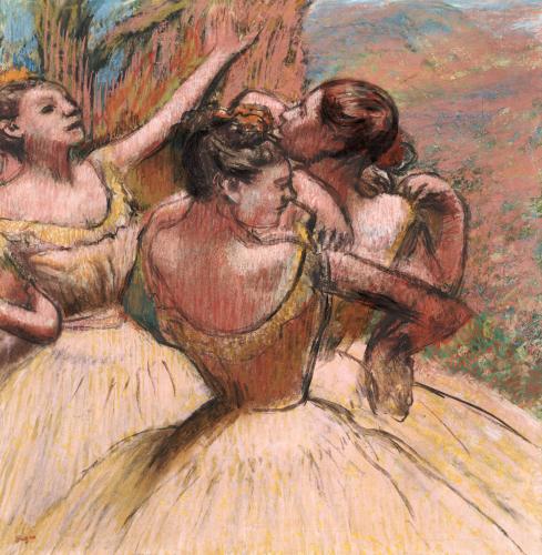 Three Dancers. Trois Danseuses, Circa 1899 by Edgar Degas