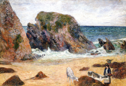Cows On The Seashore, 1886 by Paul Gauguin