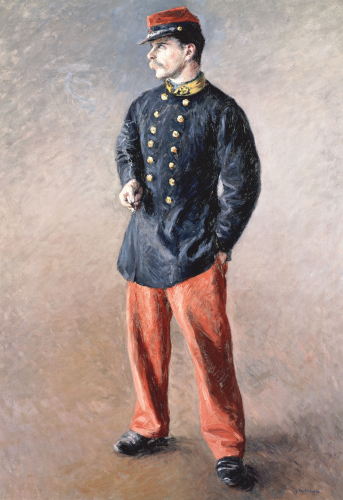 A Soldier, Circa 1881 by Gustave Caillebotte