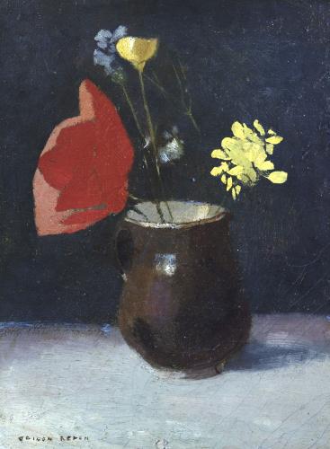 A Pitcher of Flowers by Odilon Redon