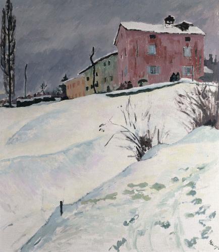 La Casa Rossa, 1912 by Giovanni Giacometti