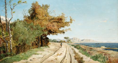 Road On The Edge Of The Mediterranean, Near Marseille, 1866 by Paul Camille Guigou