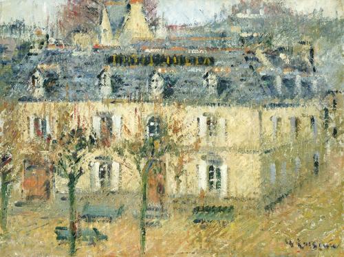L'Hotel Julia A Pont-Aven, 1928 by Gustave Loiseau