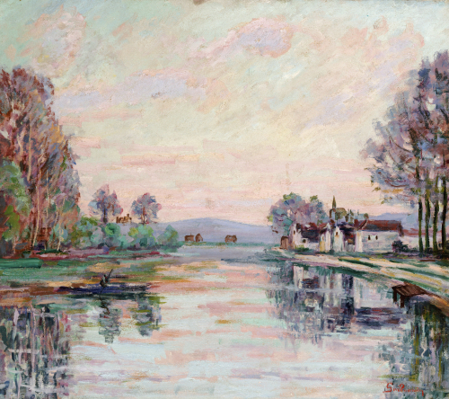 The Seine At Samois, Circa 1900 by Jean-Baptiste-Armand Guillaumin