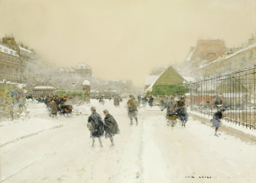 Paris In The Snow by Luigi Aloys-François-Joseph Loir