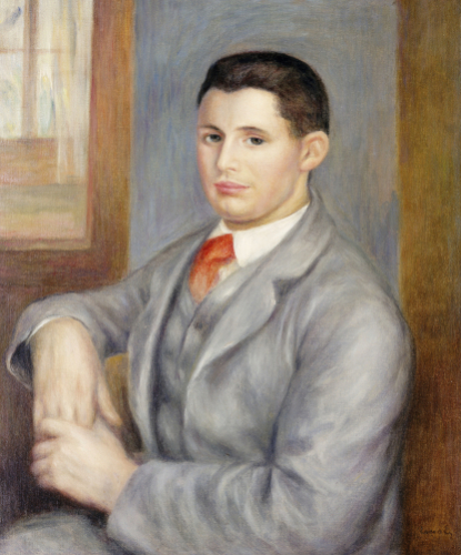 Young Man with a Red Tie, 1890 by Pierre Auguste Renoir