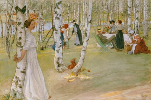 Breakfast In The Open, 1910 by Carl Larsson