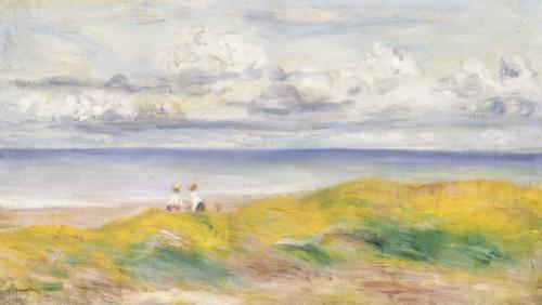 Sur La Falaise, 1880 by Pierre Auguste Renoir
