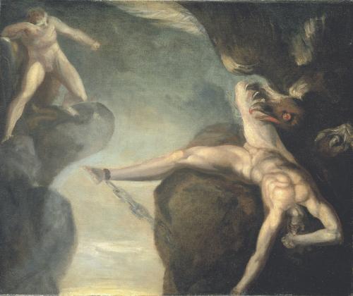 Prometheus Wird Von Hercules Gerettet by Johann Heinrich Fuseli