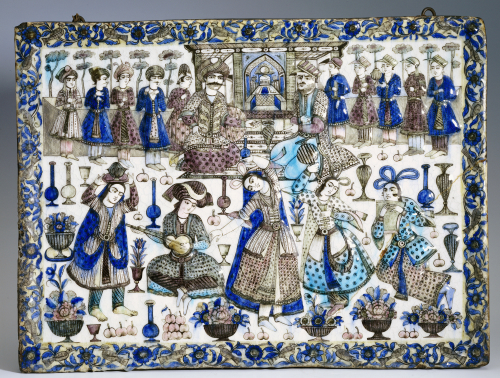 A Large Qajar Rectangular Tile by Christie's Images