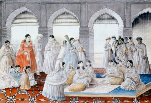 The Royal Harem Playing Pachisi In A Lucknow Palace. Lucknow School, Circa 1835 by Christie's Images