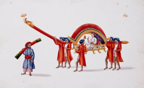 A Dignitary Carried In An Ornamental Chair. Patna School, Circa 1830 by Christie's Images