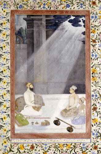 Noble With Attendants. Mughal School, C. 1680 by Christie's Images