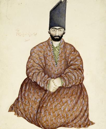 A Seated Nobleman, Persia, Qajar by Abu'l Hasan Ghaffari