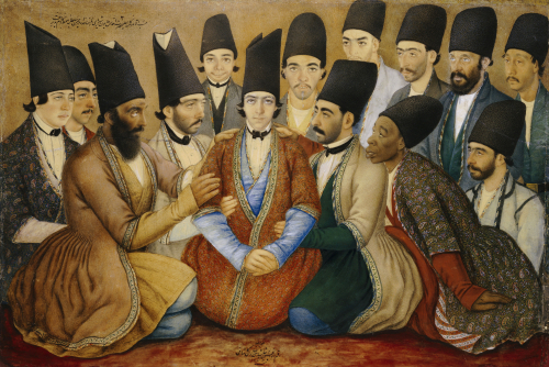 A Young Qajar Prince And His Entourage, 1859 by Abu'l Hasan Ghaffari