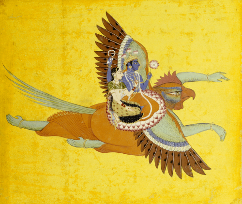 Vishnu And Lakshmi On Garuda Bundi, C.1700 by Christie's Images