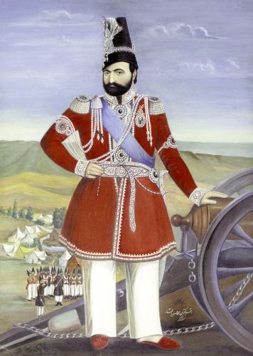 Portrait Of Muhammad Shah, Persia, Qajar by Muhammad Hasan Afshar