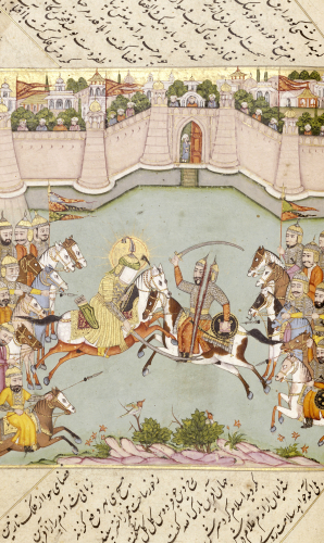 Battle From The Life Of Muhammad by Christie's Images