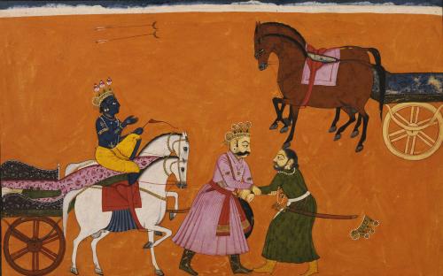 Illustration To Bhagavatat Purana Basoli Circa 1750 by Christie's Images