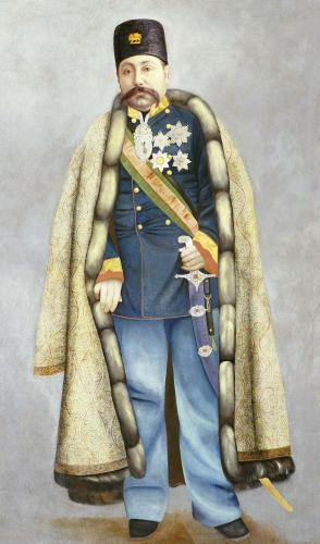 Portrait Of Muzaffar Al-Din Shah Qajar. Persia, C. 1890 by Christie's Images