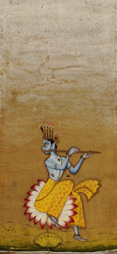 Krishna Fluting. Ustad Murad Bikaner, 1725 by Christie's Images