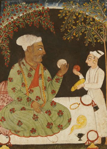 Portrait Of Raja Dhiraj Pal Of Basholi, Bilaspur, C. 1700 by Christie's Images
