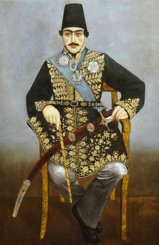 Seated Portrait Of Nasir Al-Din Shah. Qajar, Persia C. 1850 by Christie's Images
