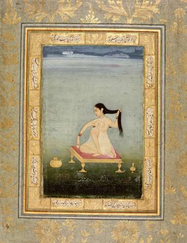A Woman At Her Toilet. Deccan C.1770 by Christie's Images