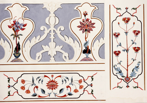 Details Of The Mosaics At The Taj Mahal, Agra School, Circa 1815 by Christie's Images