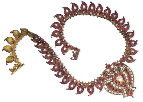 An Indian Ruby And Diamond Necklace With a Centre-Piece by Christie's Images