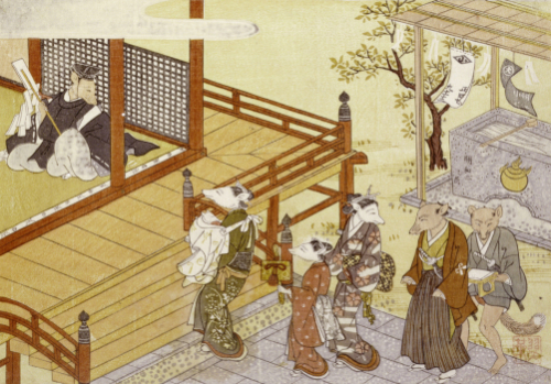 Going To The Shrine. From the Set, The Fox's Wedding, c. 1765 by Tachibana Minko