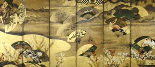 A Six-Panel Screen Painted In Sumi, Colour And Gofun On Paper by Christie's Images