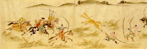 Illuminations Depicting The Shooting Of Tamamo No Mae As A Two Tailed Fox, 1606 by Christie's Images