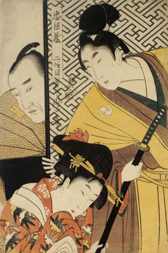 Act II Of Chushingura, The Young Samurai Rikiya by Kitagawa Utamaro