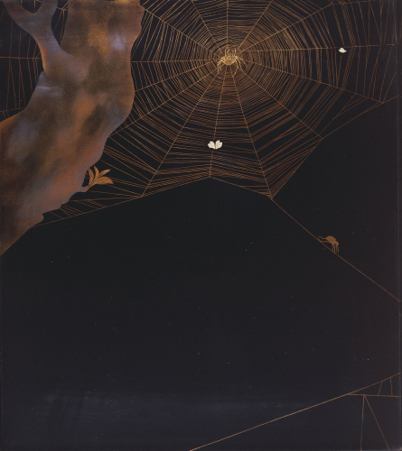 Inside Of A Roironuri Suzuribako (Writing Case) Depicting Spiders by Christie's Images