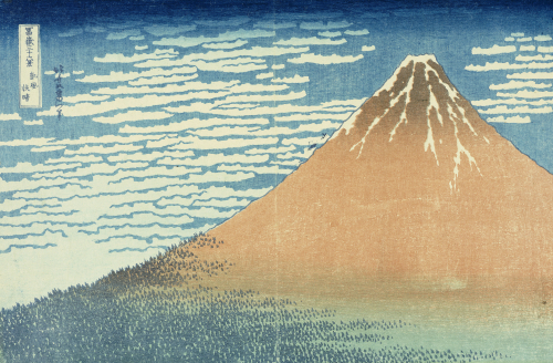 Fine Wind, Clear Morning, From The Series 'Thirty-Six Views Of Mount Fuji' by Katsushika Hokusai