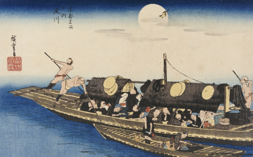 Yodo River. From The Series 'Famous Places Of Kyoto' by Ando Hiroshige