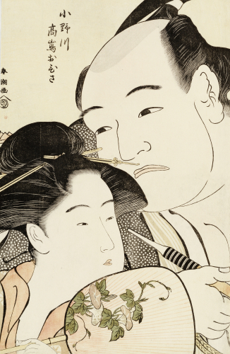 Okubi-E Portrait Of The Wrestler Onogawa Kisaburo by Katsukawa Shunsho