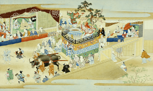 Festival Scene From Events Of The Twelve Months Of The Year Handscroll, Sumiyoshi School by Christie's Images