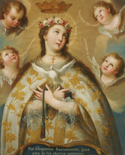 Coronation Of The Virgin by Jose de Paez