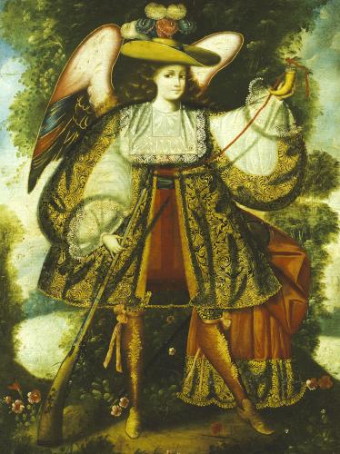 Arcangel Con Arcabuz Y. by Cuzco School