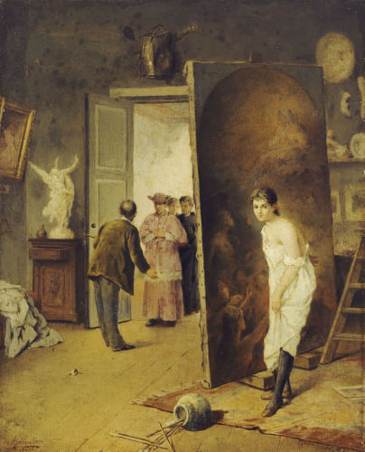 The Studio Visitor, 1902 by Antonio Herrera Toro
